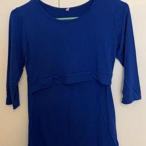 Blue nursing top